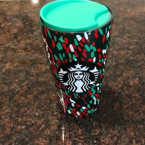 Starbucks 2019 GREEN CONFETTI TUMBLER (12 OZ)